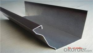Long Life Colored  Aluminum Water Gutter for Building Materials 5.5inch