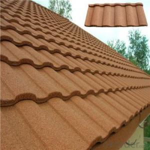 Stone Coated Metal Roofing Tile Red Blue Green Black Waterproof  Windproof