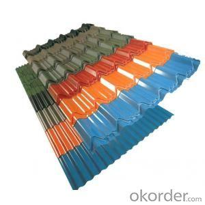 Colored Corrugate GI Coated Roofing Sheet