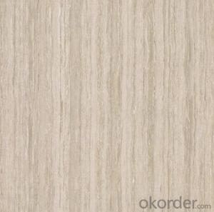 Polished Porcelain Tile  The Line Stone Serie White Color CMAXSB1001