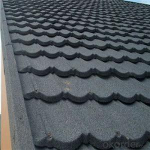 Stone Coated Metal Roofing Tile Red Blue Green Black New Product Waterproof