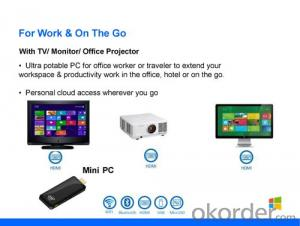 Intel Mini PC Dongle Quad Core Z3735F Windows8.1