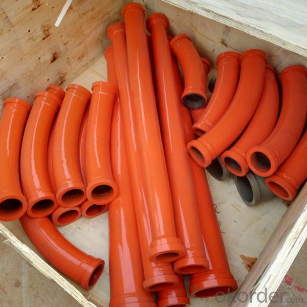 PM Concrete Pumping Bend Pipe Parts DN125*15D