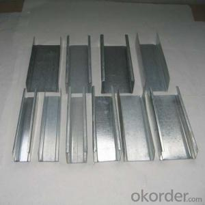 Central & South America Galvanized Steel Profile Drywall Track 60mm