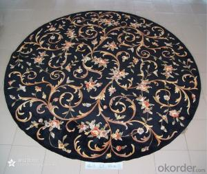 Hand Made Floral Pattern 100% Wool Carpet , High Pile Wool Rugs