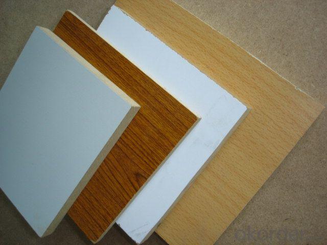 Melamine MDF Board  Wood Grain Melamine MDF Many Colors