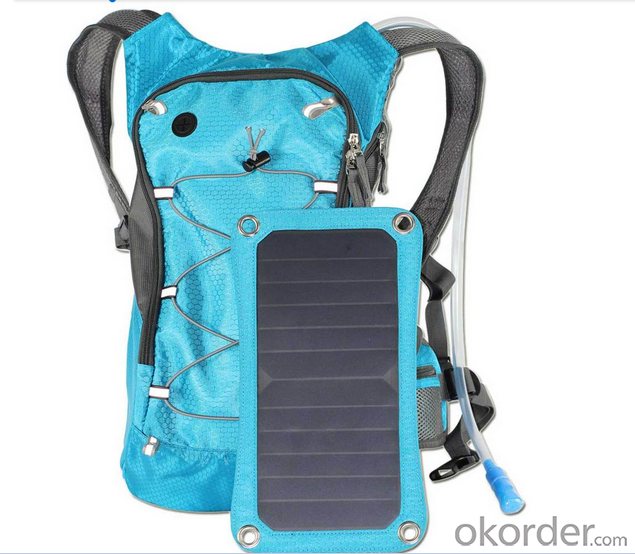 Solar backpack Solar Camel Bag Solar Powered Charge For Mobile Phones
