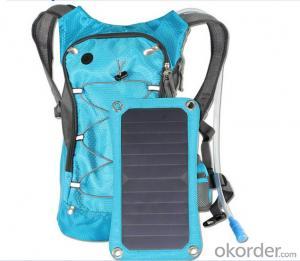 Solar backpack Solar Camel Bag Solar Powered Charge For Mobile Phones