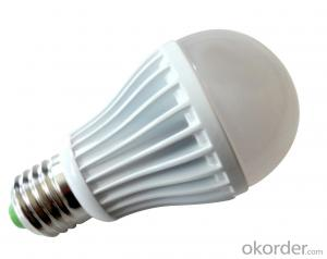 Waterproof LED bulb light CRI80, 60W incandescent replacement, UL