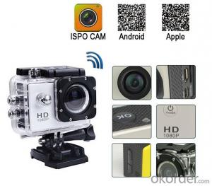 Sport Camera 1080P 60fps 170 Degree with Smartwatch Control