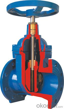 Gate Valve Ductile Iron Double Flanged Big Size For Water