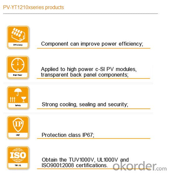 Solar Photovoltaic Junction Box PV-YT1210x
