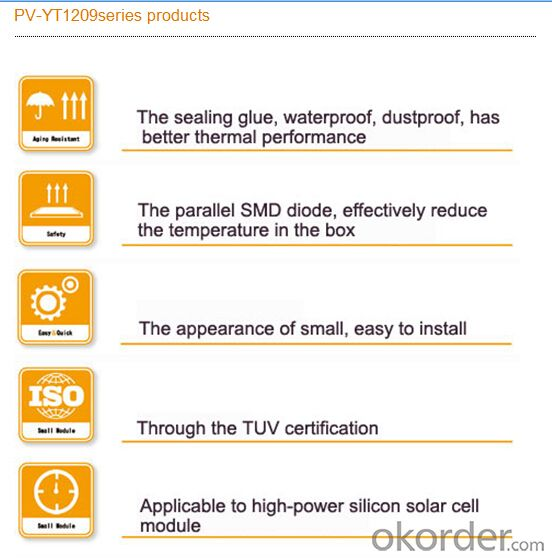 Solar Photovoltaic Junction Box PV-YT1209