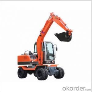 Small Wheel Excavator