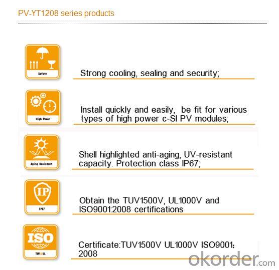Solar Photovoltaic Junction Box PV-YT1208