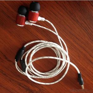 Fashion Bass Wood Earphone with Silicone Cap for Mobile Phone