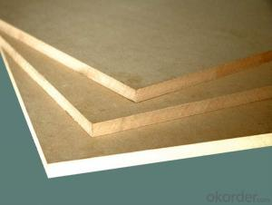 Plain MDF Raw MDF Board Light Color Size of 1220X2440X15MM