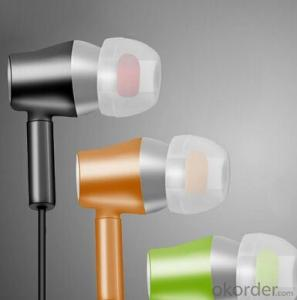 Flat Cable Earphone and in-Ear Earphone Stereo Earphone 3.5mm in-Ear Headphones