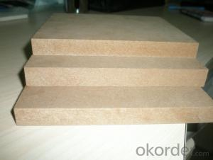 Raw MDF Board Light Color Size of 1220X2440X12MM