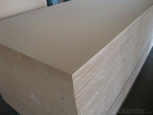 Raw MDF Board Light Color Size of 1220X2440X16MM