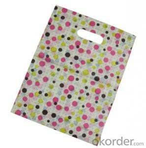 PE Die Cut Printed Shopping Bag used for Packing
