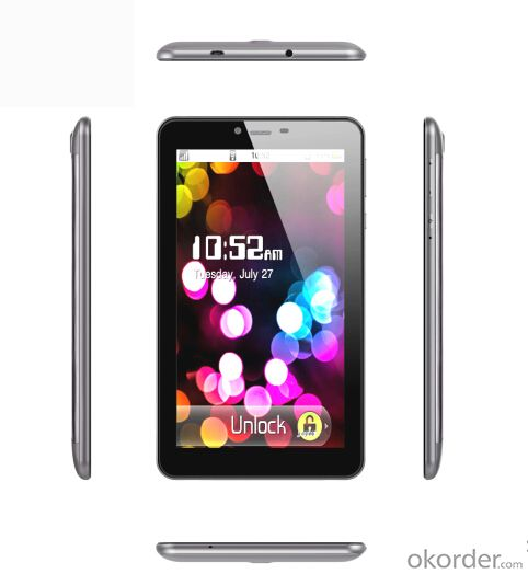 MTK8312 3G Tablet PC Dual Core RAM 512M+ ROM 4GB and 0.3+2.0MP Camera