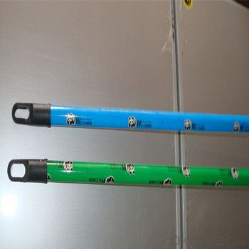 Wooden Stick Hanle With Different PVC Coating