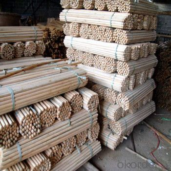Wooden Stick Handle PVC in Various Sizes From Factory