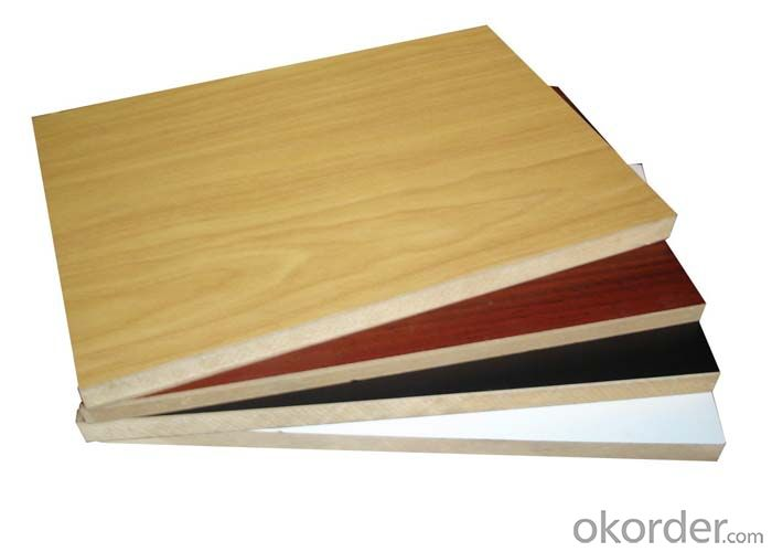 Wood Grain Color Melamine Faced MDF for Furniture