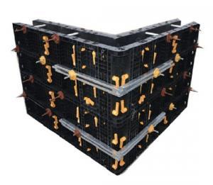 25 X 60 mm Black Plastic Modular Formwork Panel for Straight Concrete Wall