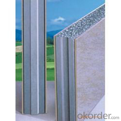 Construction Metal Board Rockwool Sandwich Panel  50mm