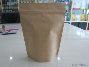 Bottoom Gusset Zipper Closer Kraft Paper Laminated Bags