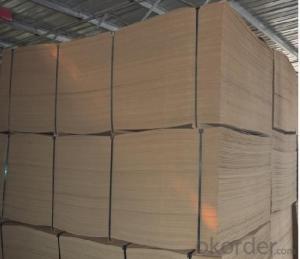 One Side Light Raw Fibre Hardboard with 900kgs/m3 Density