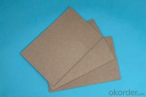 Light Brown Color Raw Fibre Hardboard for Furniture Use