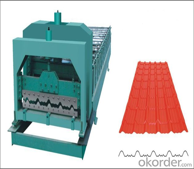 Roof Color Steel Tile Roll Forming Machine with PLC Control