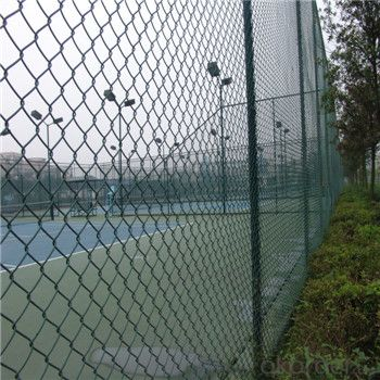 Chain Link Fence Galvanized or PVC Coated Fence Green Black