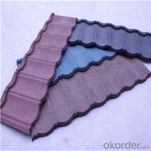 Stone Coated Metal Roofing Blue Red Green Black Colorful Good Quality