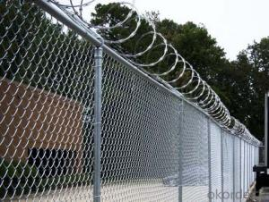 With Top Rail Galvanized Chain Link Fence