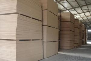 Plain Mixed Hard Wood MDF Boards Raw Material