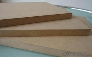 Plain Poplar Wood MDF in Light Color Poplar Medium Density Fiber Board