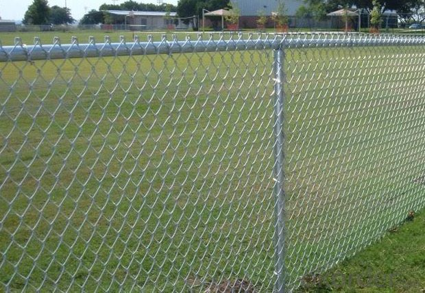 Buy With Top Rail Galvanized Chain Link Fence Price Size
