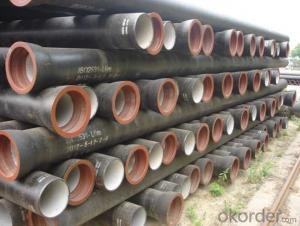 Ductile Iron Pipe High Quality  ISO2531:1998 DN80