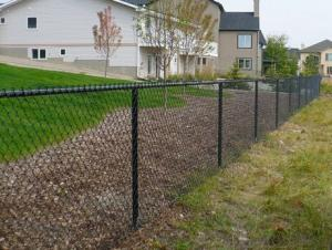 RAL6005  Green Powder  Coated Chain Link Fence