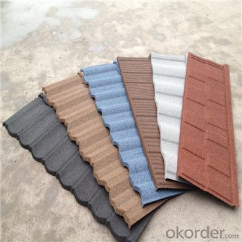 Stone Coated Metal Roofing Good Qulaity Red Blue Roofing Factory Price