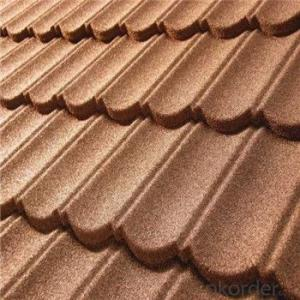 Stone Coated Metal Roofing Tile New Products Colorful Red Green Blue