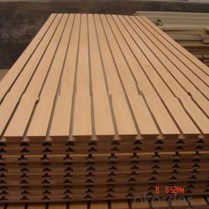 Melamine Glue Slotted Medium Density Fibre Board
