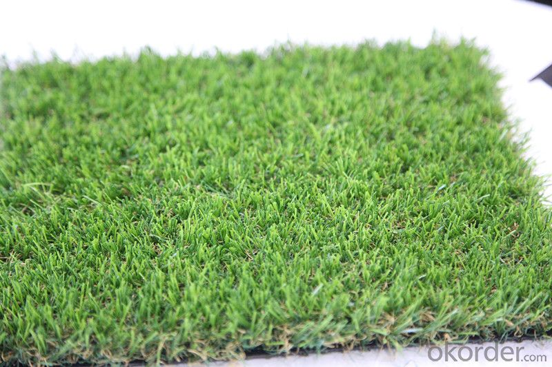 PE Monofilament & PP Curly Yarn Landscaping Artificial Residential Turf Lawn For Garden Courts