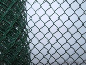 Vinyl Coated Roll  Chain  Link Wire Mesh Fence
