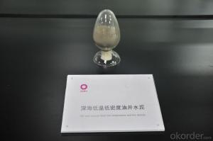 Deep-Sea Low-Temperature and Low-Density Oil Well Cement in High Quality