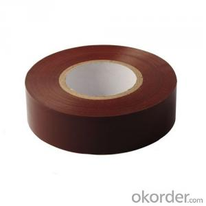 Tan Insulating Wrapping Of Electric Cable PVC Tape